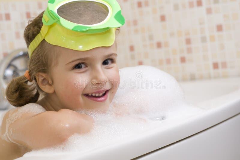 Rubber Ducky On Her Head Stock Photo Image Of Foam Happy