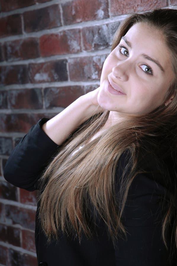 Cute girl portrait stock photography