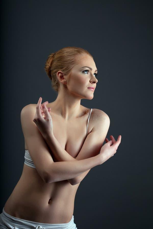 Download Cute Girl Portrait Posing On Light Stock Photo - Image of elegance, dance: 23708124