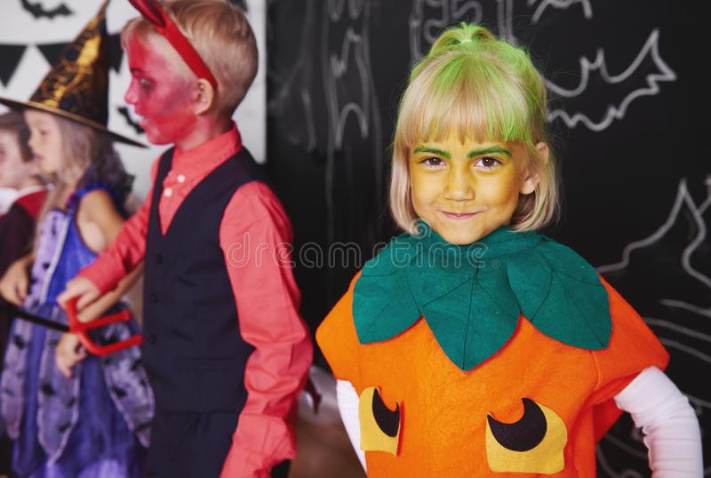 Halloween party for kids stock photography