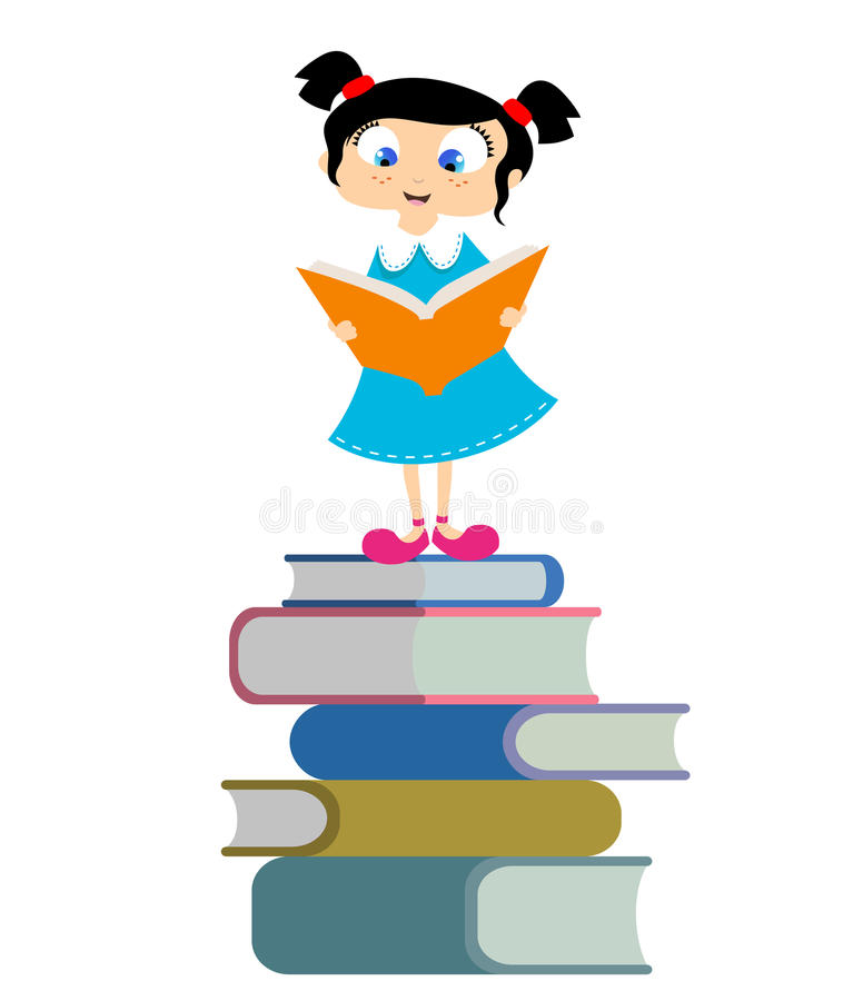 Download Cute Girl Reading Book Royalty Free Stock Images - Image: 18152989