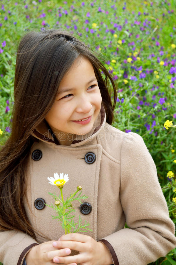 Female child model royalty free stock photography