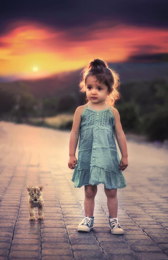 Cute Girl With Teddy At Sunset Free Public Domain Cc0 Image