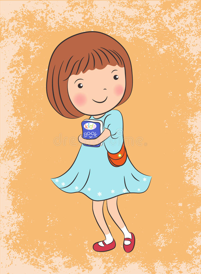 Cute girl vector illustration stock illustration