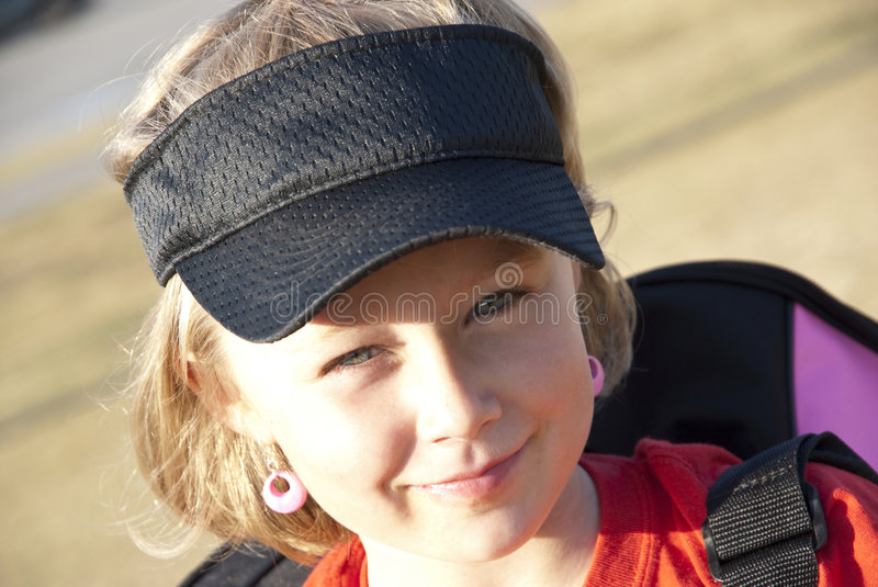 Cute Girl with Visor royalty free stock images