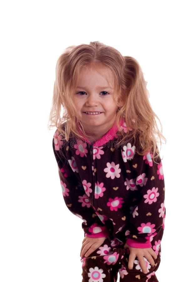 Cute Girl Waking Up royalty free stock photos