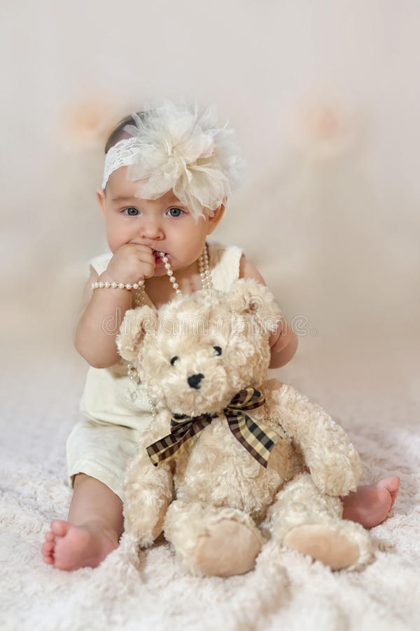 Cute girl in white royalty free stock images