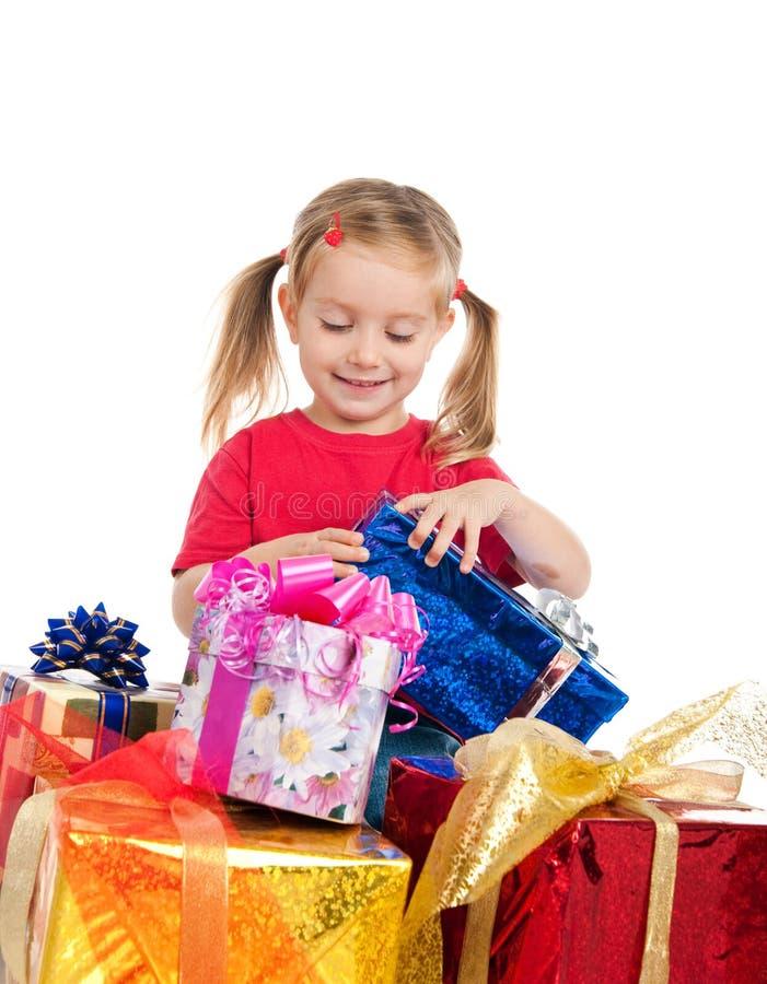 Free Cute Girl Wih The Presents Stock Photo - 16479170