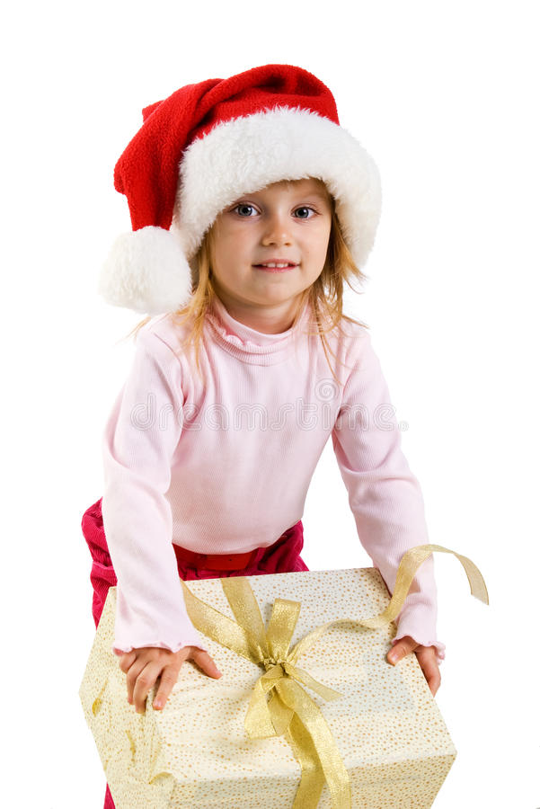 Download Cute Girl With A Xmas Gift Stock Image - Image: 11456761