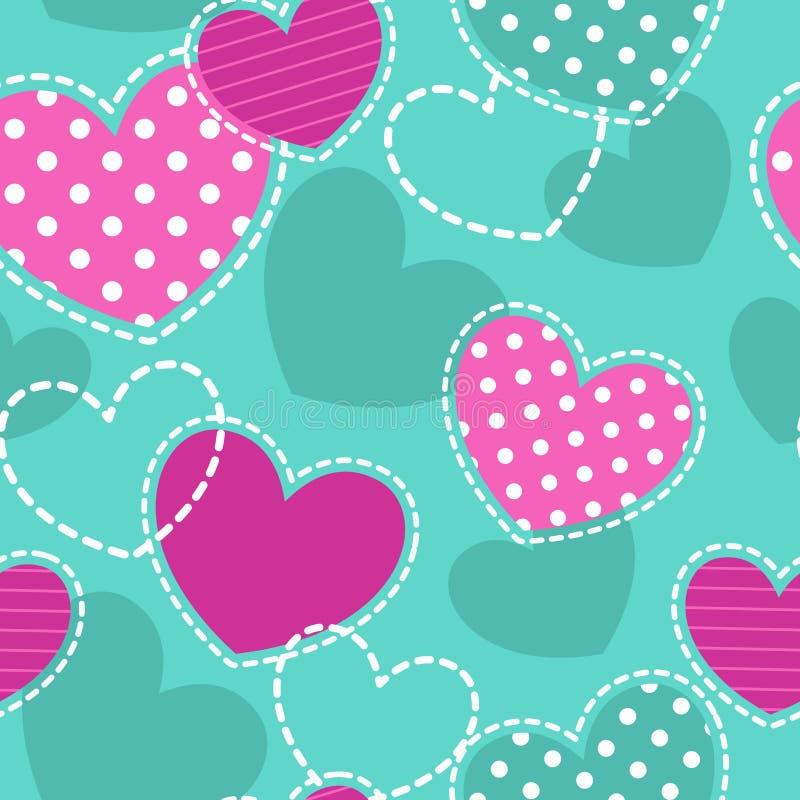 Cute girlish seamless pattern royalty free illustration