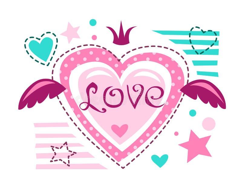 Cute girlish vector illustration stock illustration