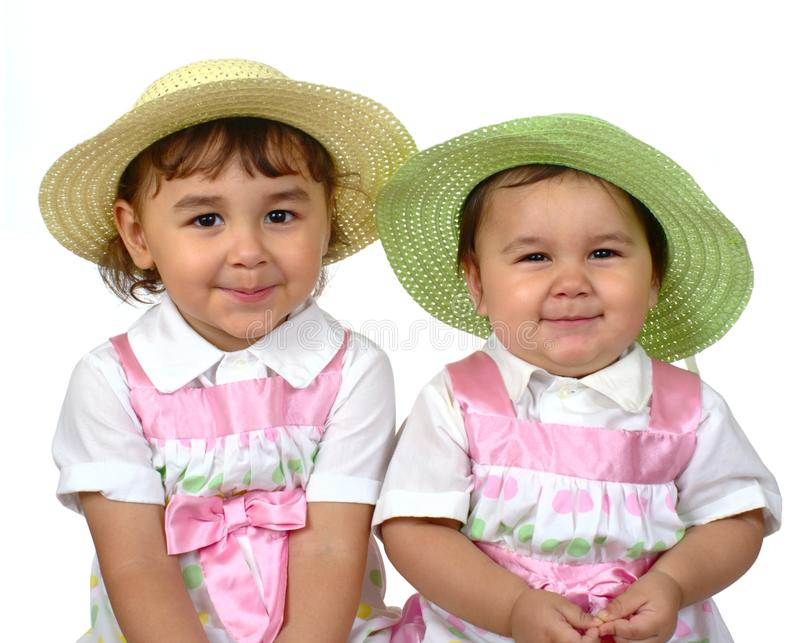 Download Cute Girls, Sisters Side-by-side Stock Photo - Image: 17731630