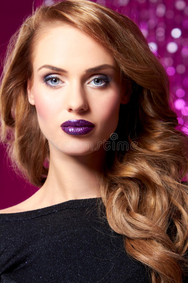 Cute Glamour Girl royalty free stock image