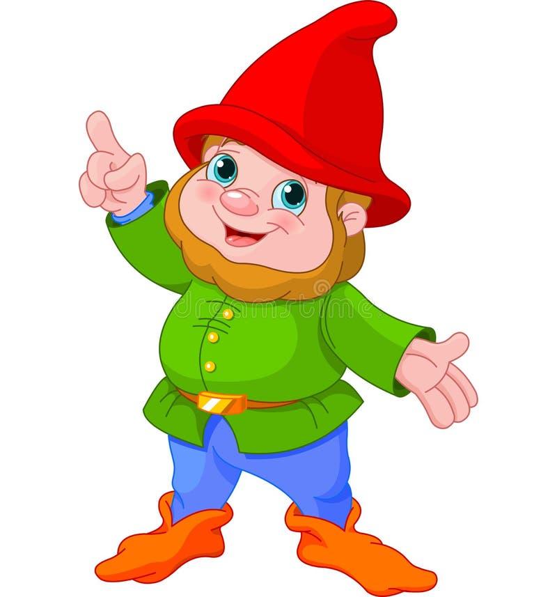 Cute Gnome presenting stock illustration