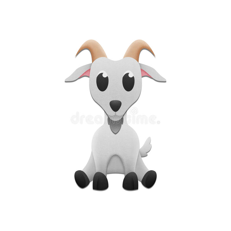 Cute goat is animal cartoon in farm and zoo of paper cut stock download cute goat is animal cartoon in farm and zoo of paper cut stock illustration voltagebd Images