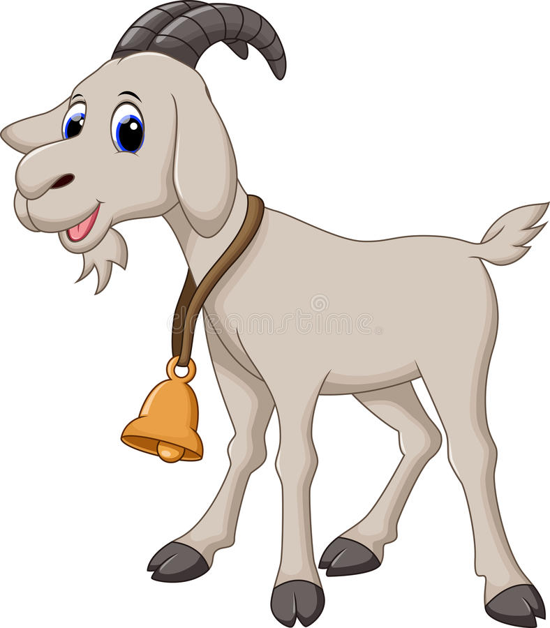 Cute goat cartoon. Illustration of Cute goat cartoon