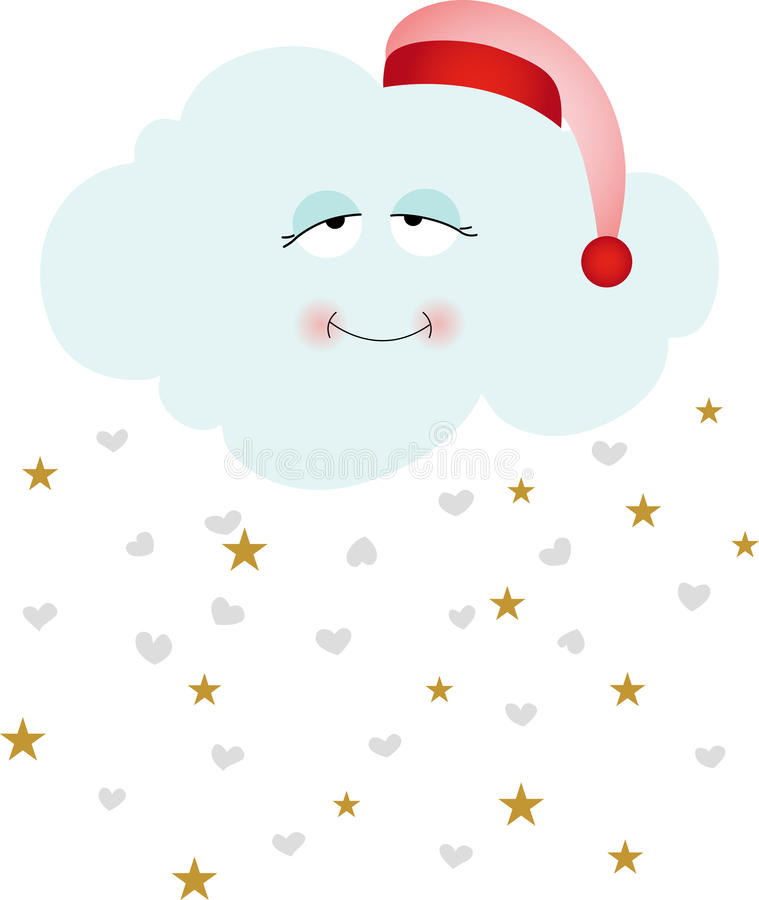 Free Cute Goodnight Cloud Royalty Free Stock Photo - 84362425