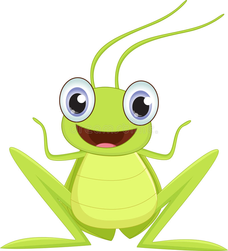 Aninimal Book: Cute grasshopper cartoon stock vector. Illustration of ...