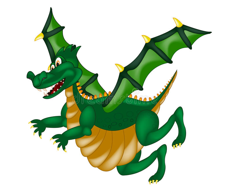 Cute Green Dragon royalty free illustration