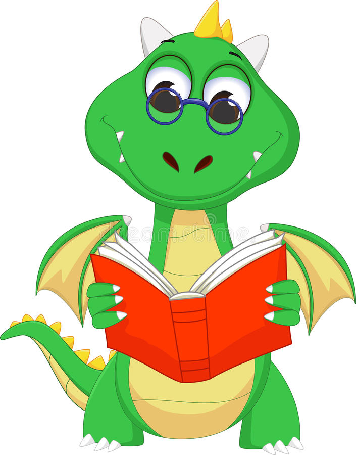 cute green dragon reading a book stock vector illustration of rh dreamstime com People Reading Clip Art Fire-Breathing Dragon Clip Art