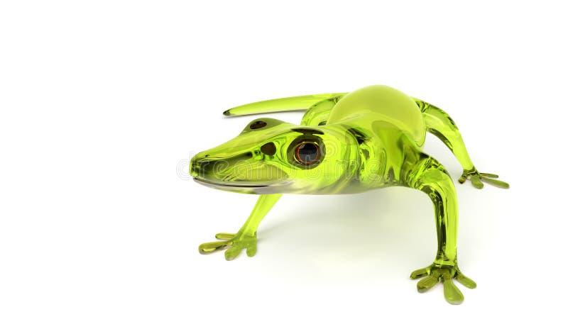 Cute Green Glass Gecko stock illustration