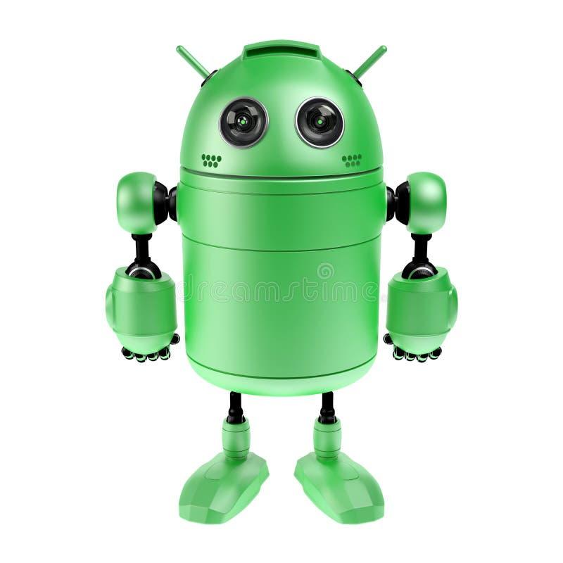 Cute green robot royalty free illustration