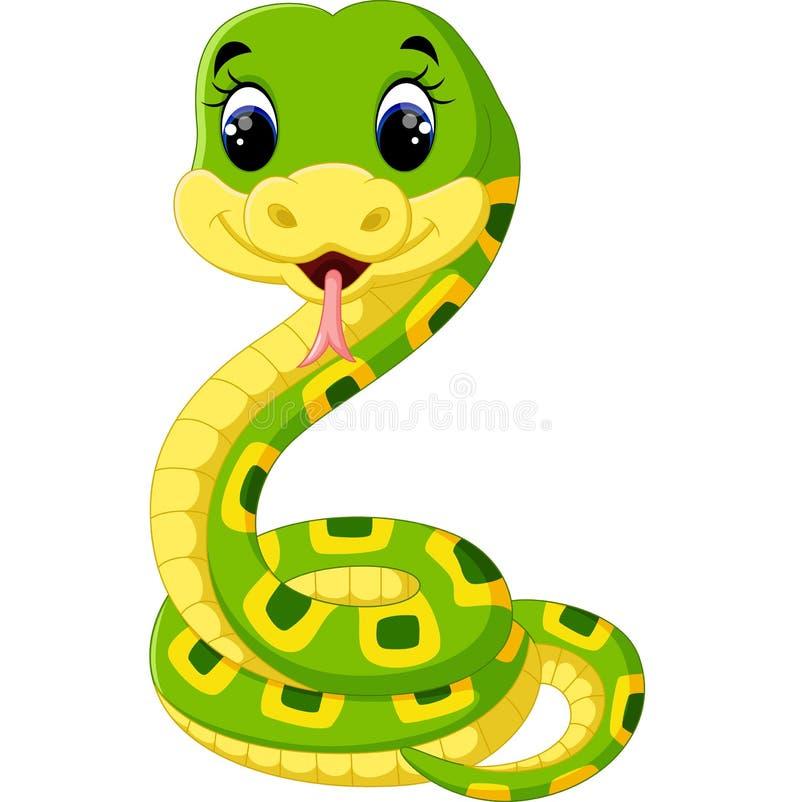 Free Cute Green Snake Cartoon Stock Photo - 73041780