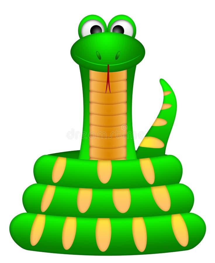Download Cute Green Snake Coil Up Illustration Stock Illustration - Image: 23846076