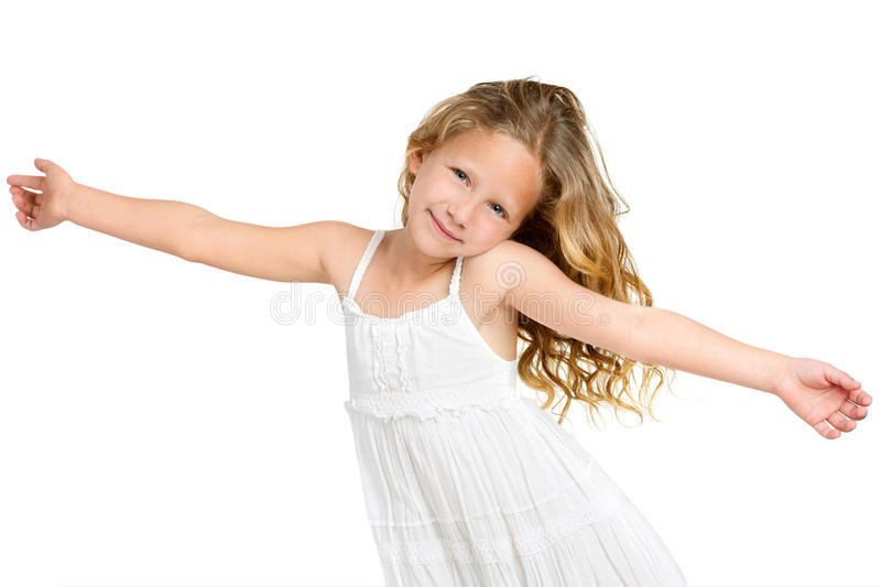 Download Cute Gril With Arms Wide Open. Stock Photo - Image of happy, expressive: 25238892