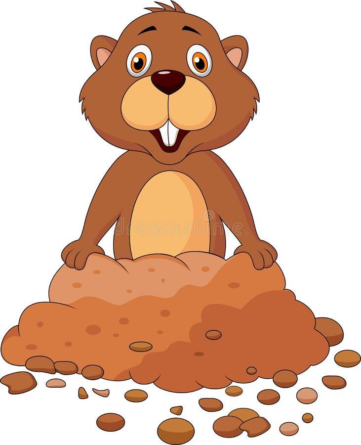 Free Cute Groundhog Cartoon Stock Photography - 30569132