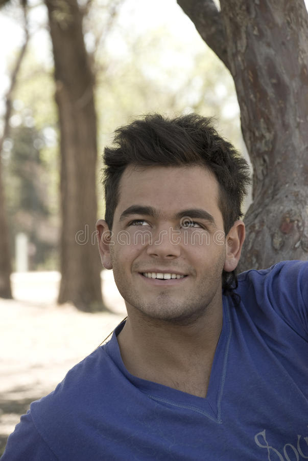 Download Cute Guy Thinking And Smiling Stock Image - Image: 11327919