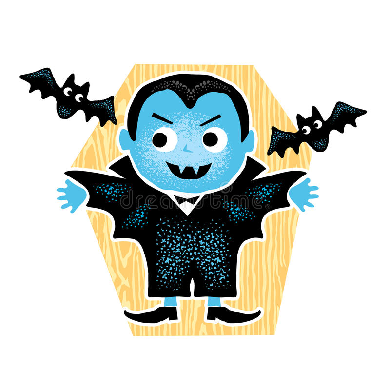 Cute Halloween Dracula royalty free stock photo