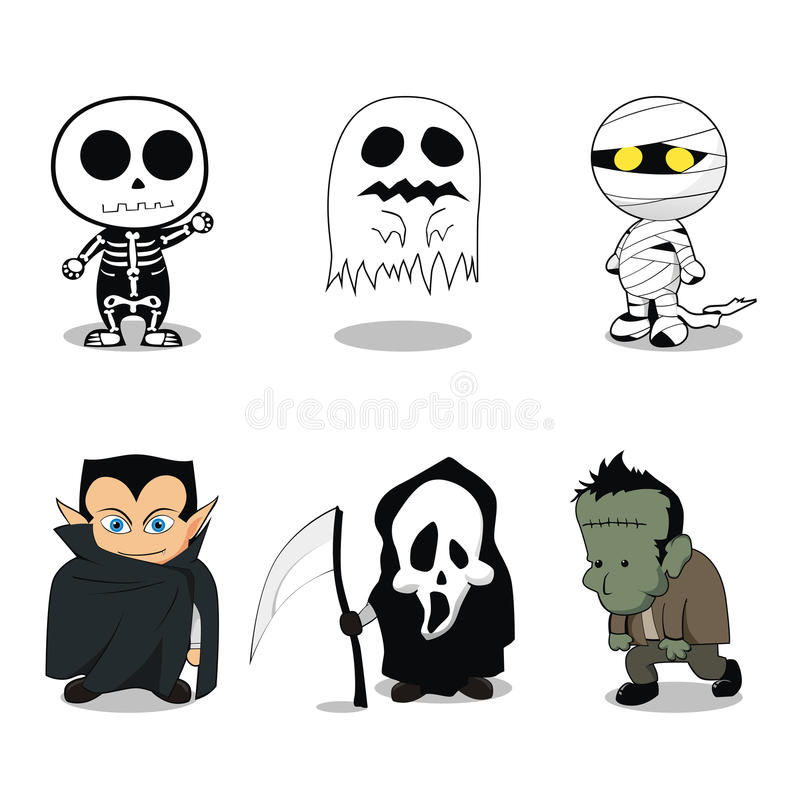 Cute Halloween Ghost Costumes Royalty Free Stock Images