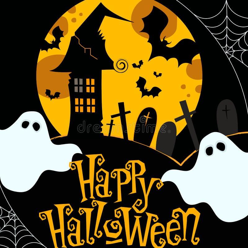 Cute Halloween illustration royalty free illustration
