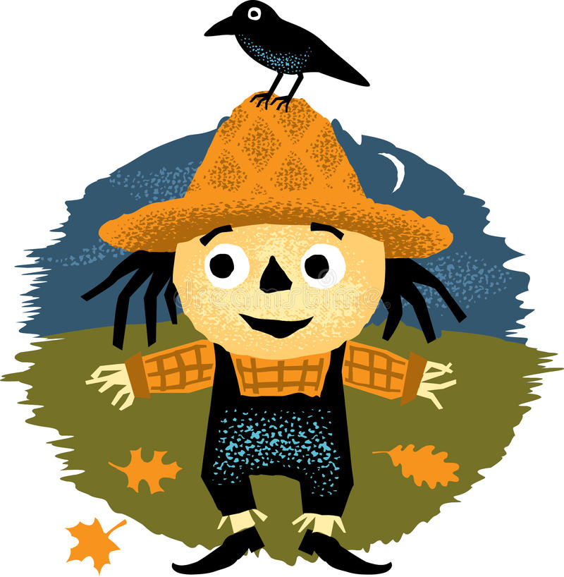 Cute Halloween Scarecrow stock images