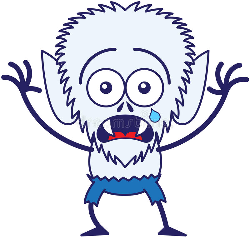 Free Cute Halloween Werewolf Crying And Feeling Scared Stock Images - 45349204