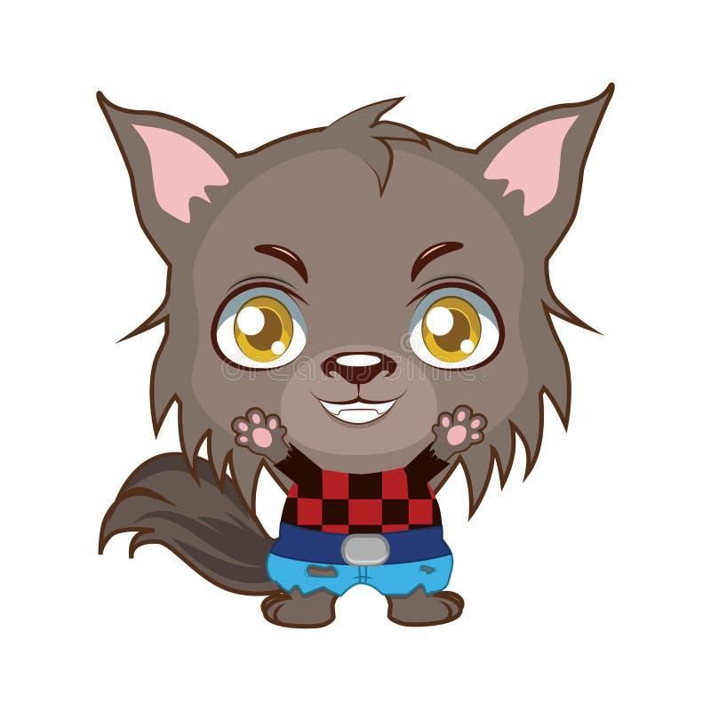 Free Cute Halloween Werewolf Illustration Stock Photography - 159550652