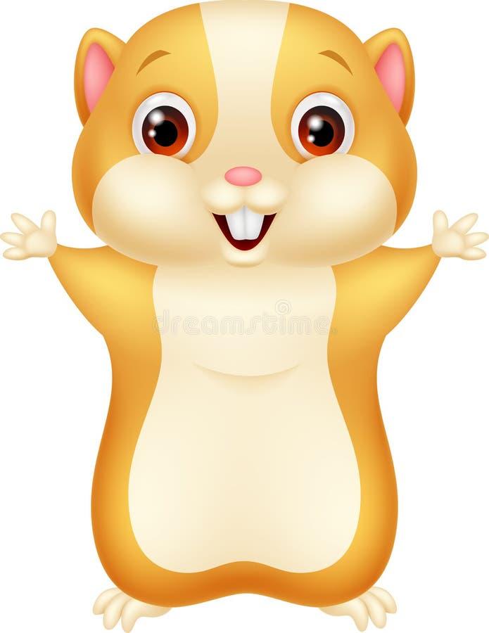 Cute hamster cartoon stock illustration