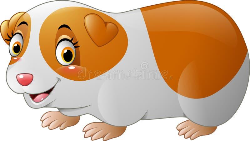Cute hamster cartoon. Illustration of Cute hamster cartoon vector illustration
