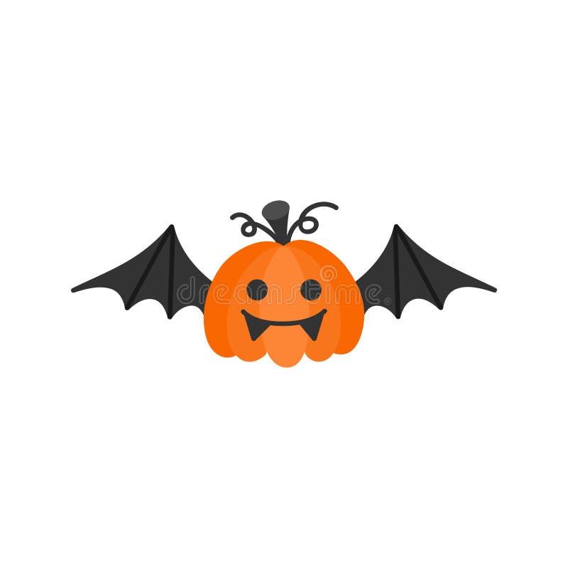 Cute hand drawn vampire pumpkin vector illustration stock illustration