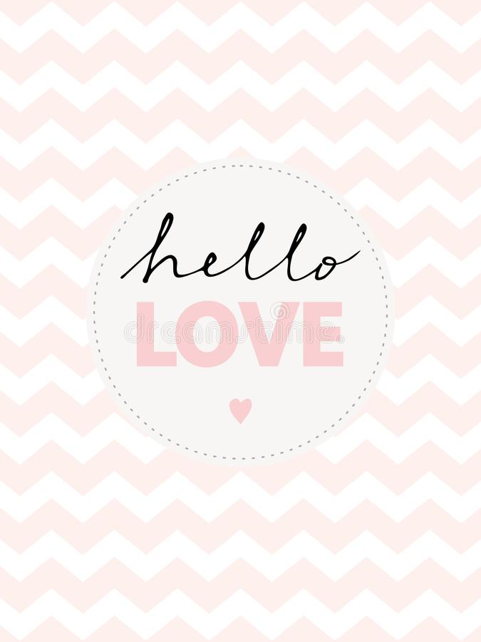 Free Cute Hand Written Hello Love Vector Illustration. Royalty Free Stock Images - 122578109