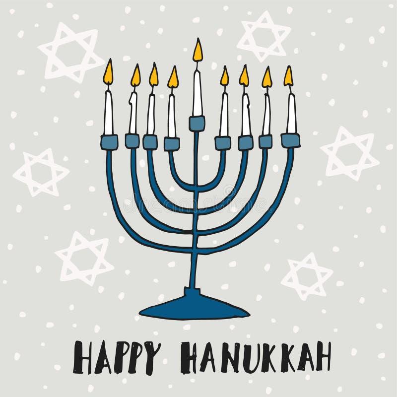 Cute hanukkah greeting card invitation with hand drawn menorah download cute hanukkah greeting card invitation with hand drawn menorah stock vector illustration m4hsunfo