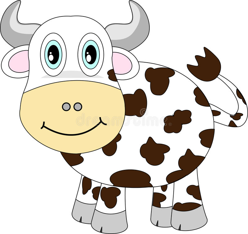 Download Cute Happy Cow stock vector. Image of happy, vector, smiling - 7786763