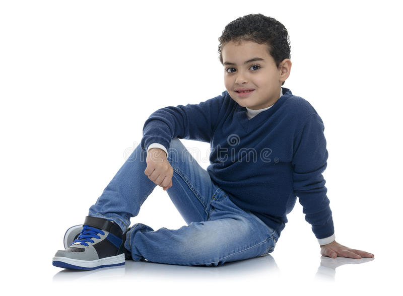 Cute Happy Fashion Boy stock photo