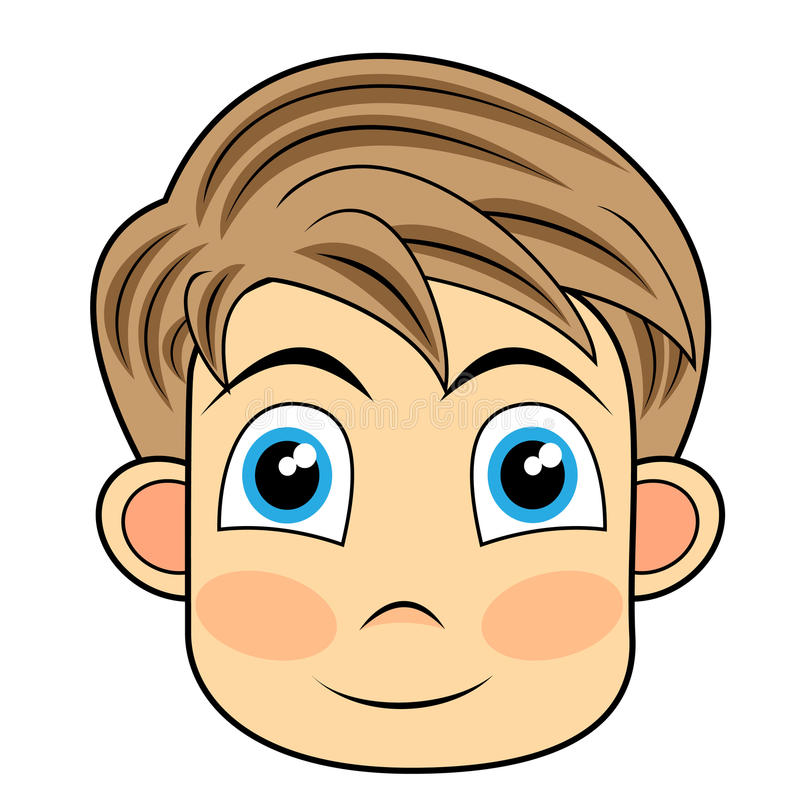 Download Cute And Happy Looking Face Of A Young Boy Stock Vector - Illustration: 16852877