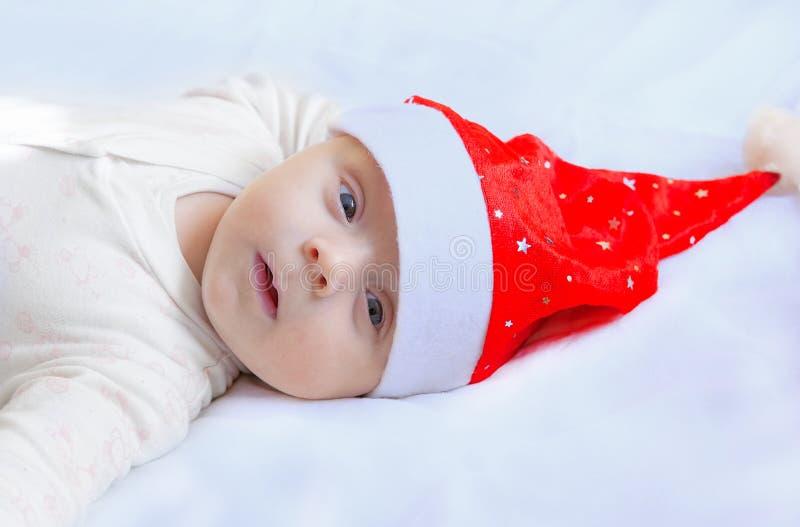 Cute happy newborn stock photos