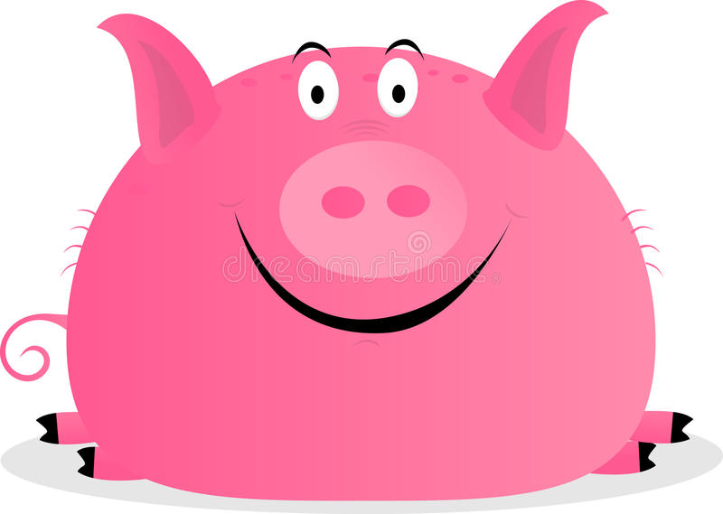 Download Cute happy pig stock illustration. Image of icon, farm - 20393395