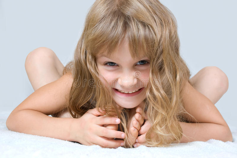 Cute happy playing child royalty free stock photos