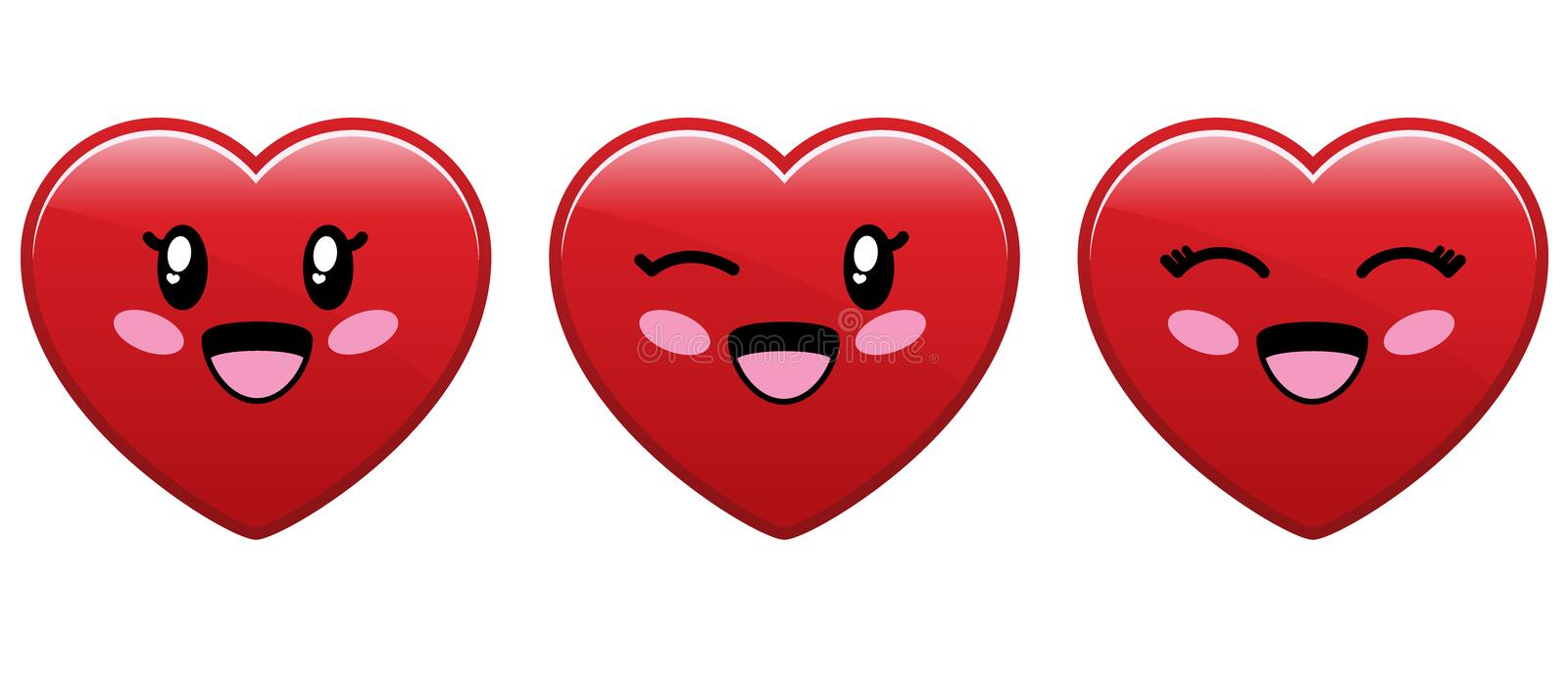 Download Cute Heart Character stock vector. Image of emotion, component - 16678320
