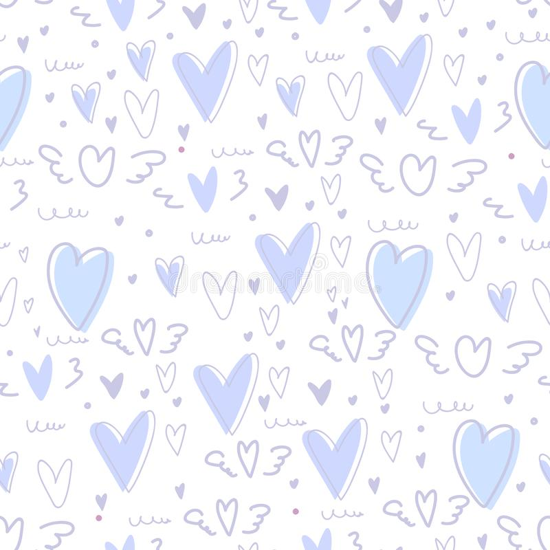 Cute heart seamless pattern background. vector illustration